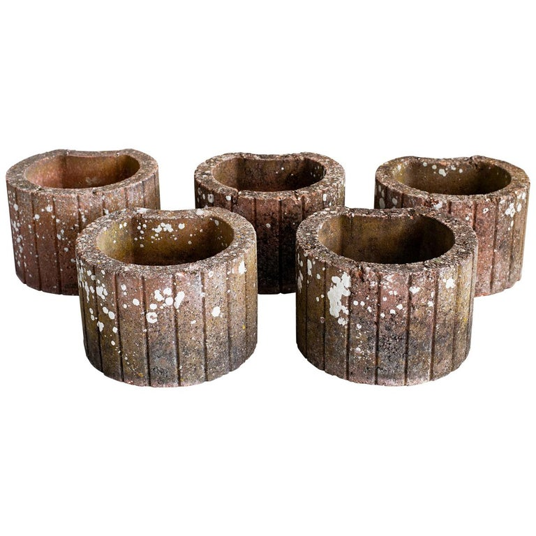 Crescent Shaped Stone Planters For Sale