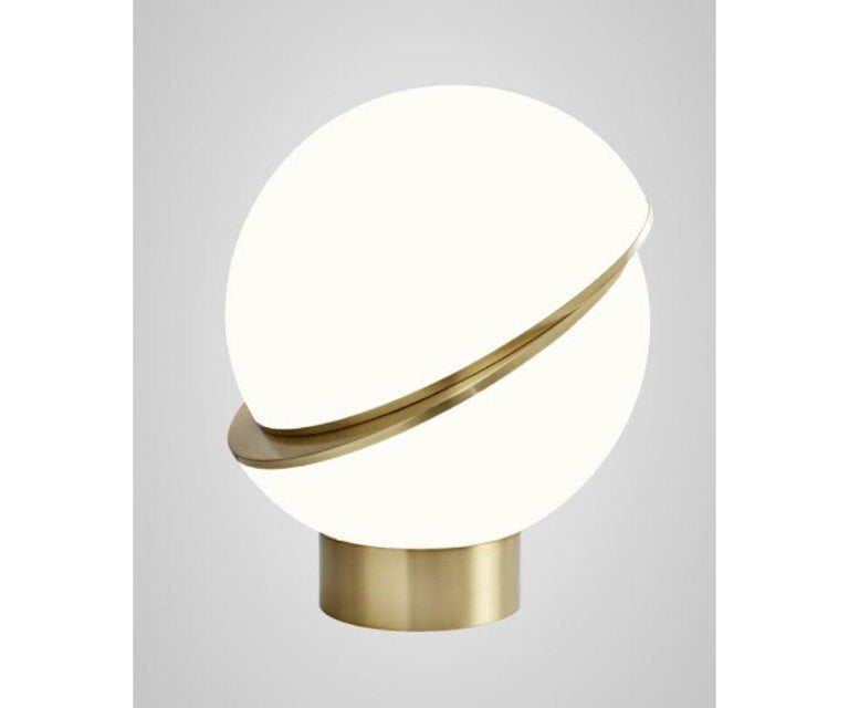 Modern Crescent Table Lamp For Sale