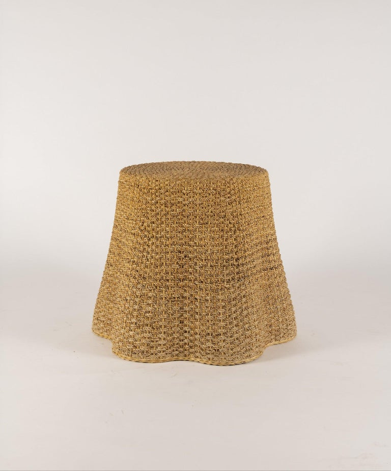 Vintage rope table with beveled 22