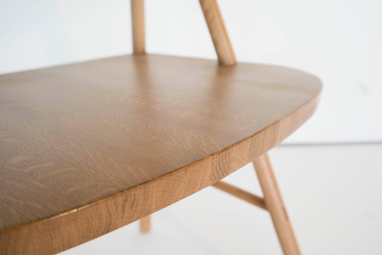 Joinery Cress Chair by Sun at Six, Sienna Minimalist Dining Chair in Wood, Leather For Sale