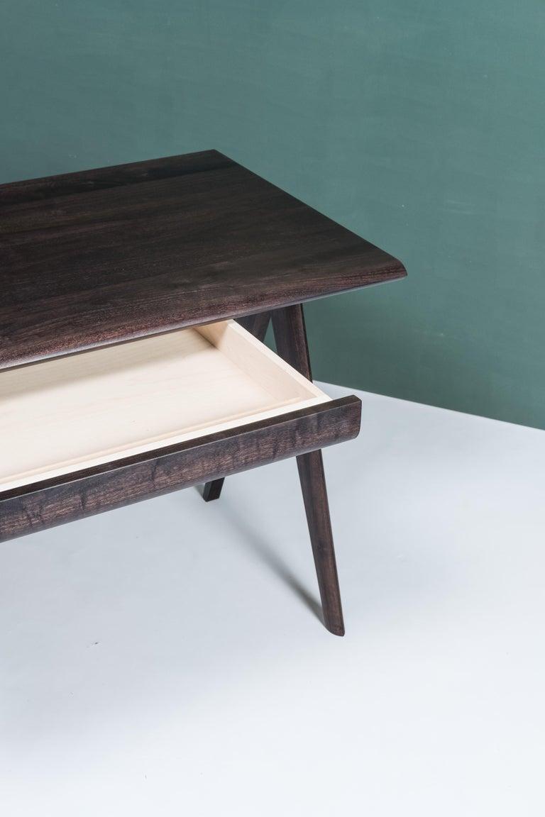 Crest Desk by Tretiak Works, Oxidized Walnut Handmade Contemporary Basic Desk For Sale 1