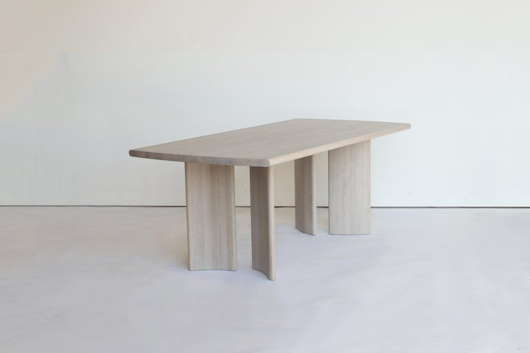 Sun at six is a Brooklyn design studio. We work with traditional Chinese joinery masters to handcraft our pieces using traditional joinery. The crest table is our statement, large dining table.