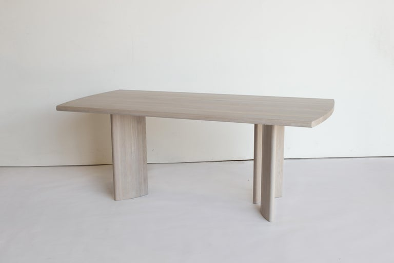 Crest Table, Nude, Minimalist Dining Table in Wood In New Condition For Sale In San Jose, CA