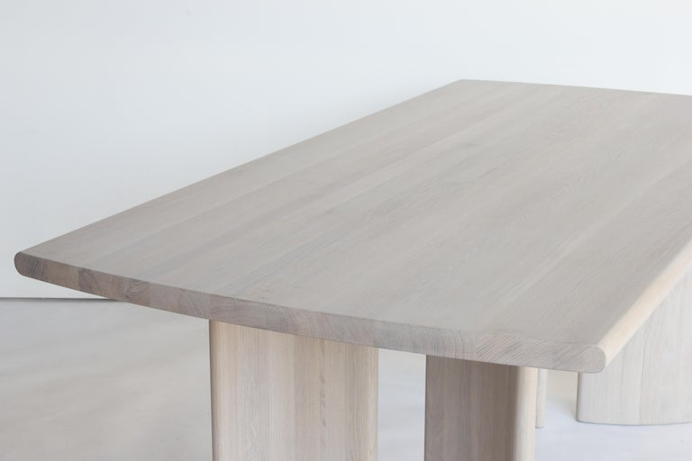 Contemporary Crest Table, Nude, Minimalist Dining Table in Wood For Sale