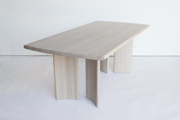 Oak Crest Table, Nude, Minimalist Dining Table in Wood For Sale