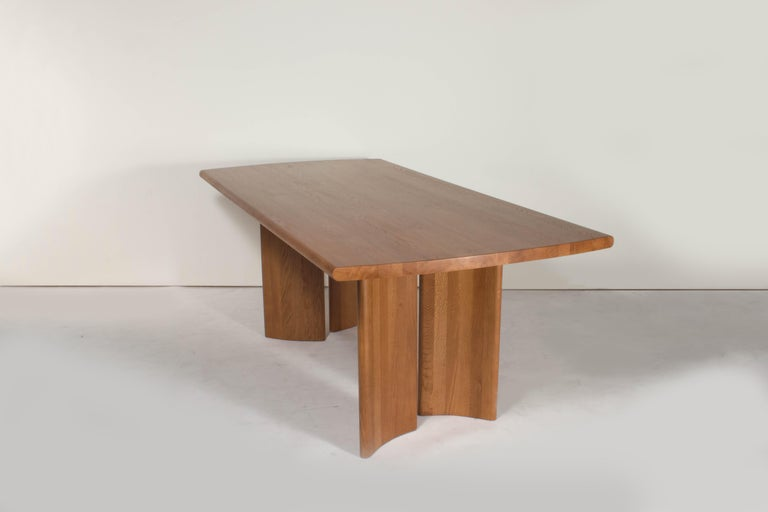 Chinese Crest Table, Sienna, Minimalist Dining Table in Wood For Sale