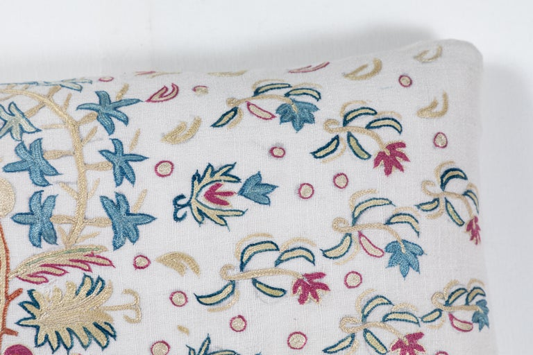 European Crewel Embroidery Pillows For Sale