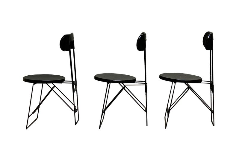 Mid-Century Modern Cricket Chairs Andries Van Onck & Kazuma Yamaguchi for Magis, 1983 For Sale