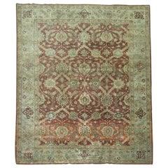 Crimson Antique Persian Tabriz Room Size Rug