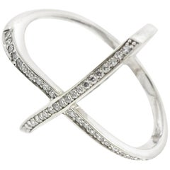 Criss Cross Diamond Fashion Ring