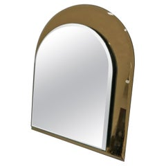 Cristal Arte Mid-Century Modern Glass Italian Table Mirror, circa 1970