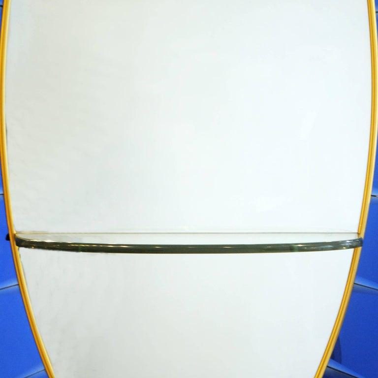 Cristal Art Blue Console Mirror, 1950s Italy.