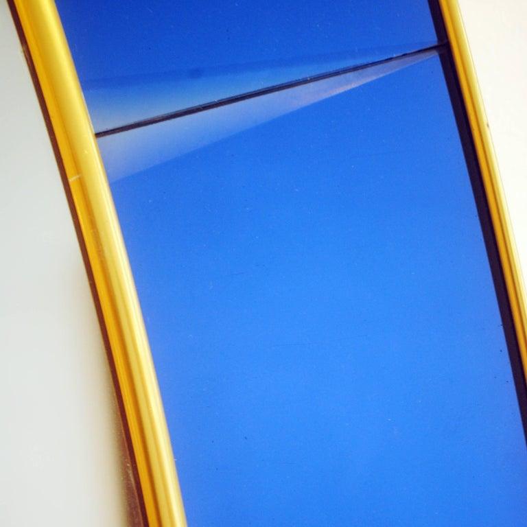 Italian Cristal Art Blue Console Mirror, 1950s Italy For Sale