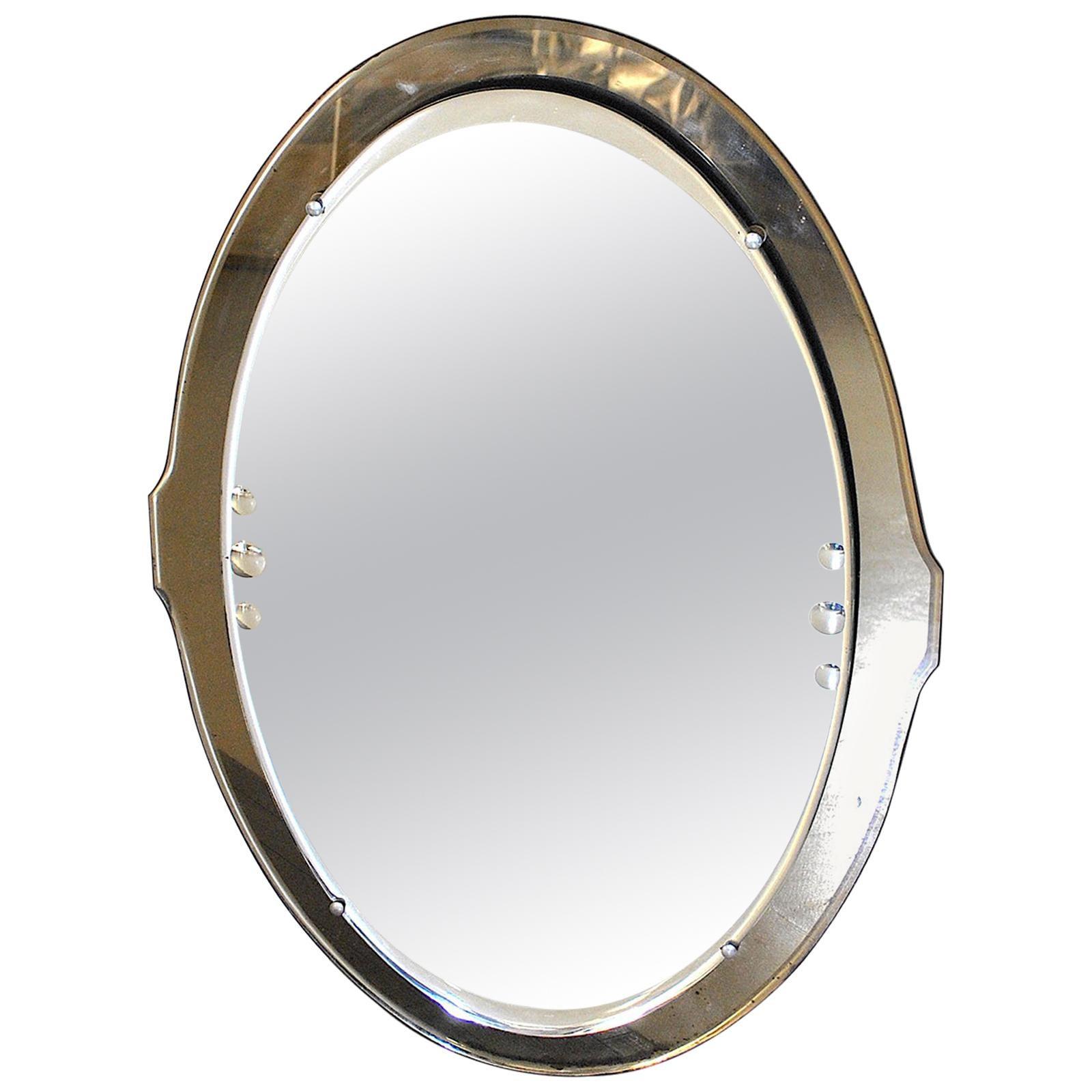 Cristal Art Oval Mirror 50s