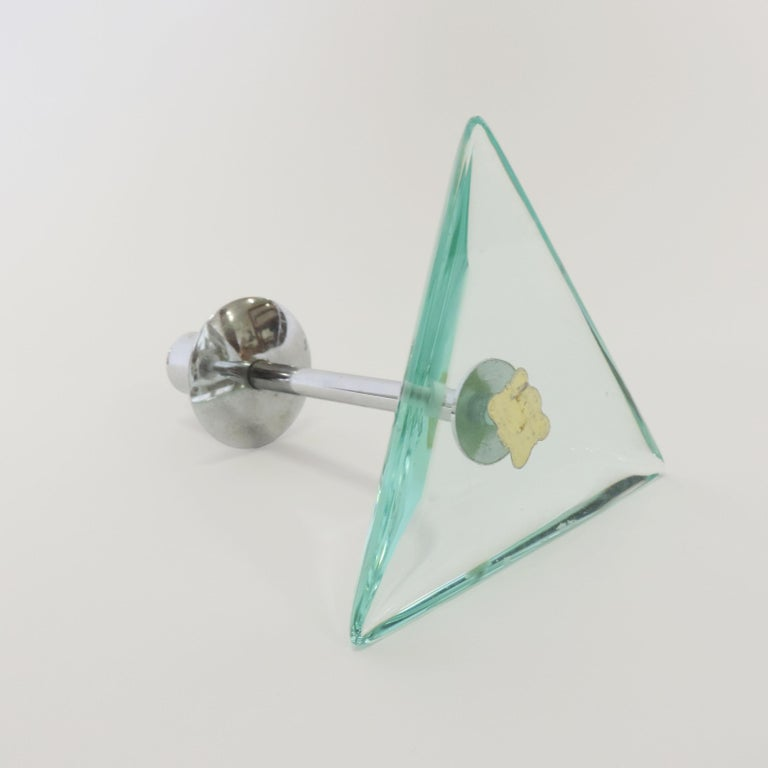 Cristal Arte Candleholder, Italy 1960s In Good Condition For Sale In Milan, IT