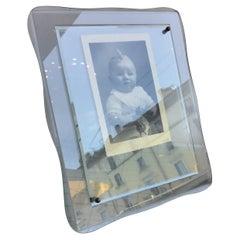 Cristal Arte Frame Glass Brass, 1955, Italy