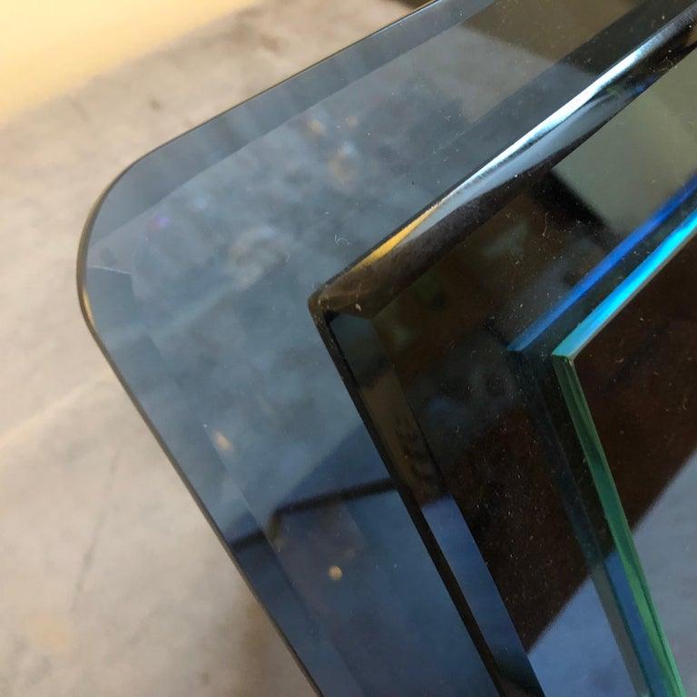 Cristal Arte Mid-Century Modern Blue Glass Italian Photo Frame, circa 1970 For Sale 5
