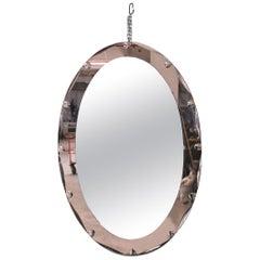 Cristal Arte Mirror Italian Midcentury, 1950s