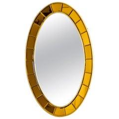 Cristal Arte Oval Modernist Mirror