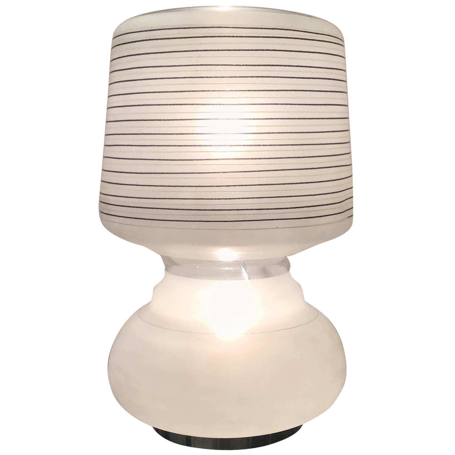 Cristal Arte Table Lamp Glass Metal, 1970, Italy