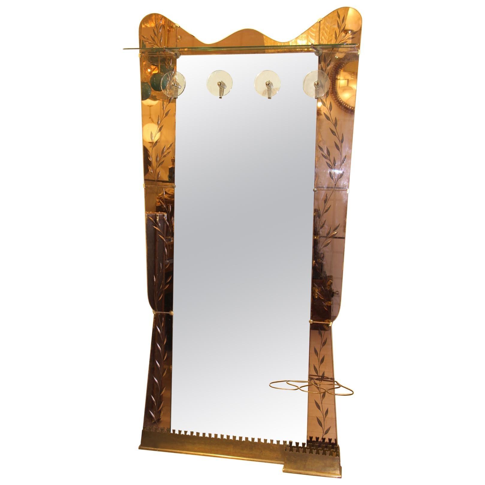 Cristal Arte Wall Mirror, Wall Coat Rack, Large Standing Mirror, Umbrella Stand