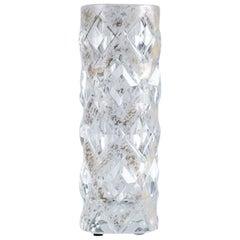 "Cristal Benito, ""Vase Doré,"" Contemporary Hand Cut Crystal Vase, France, 2018"