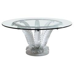 """Cristal Lalique Table """"Cactus"""""""