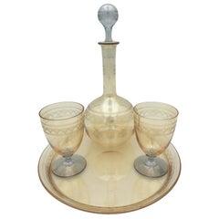 """Cristal """"Tête à Tête"""" Liquor Service, 19th Century"""