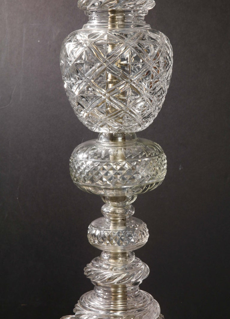 Cristalleries De Baccarat, a Large Pair of French Cut Crystal 18-Light Torcheres For Sale 9