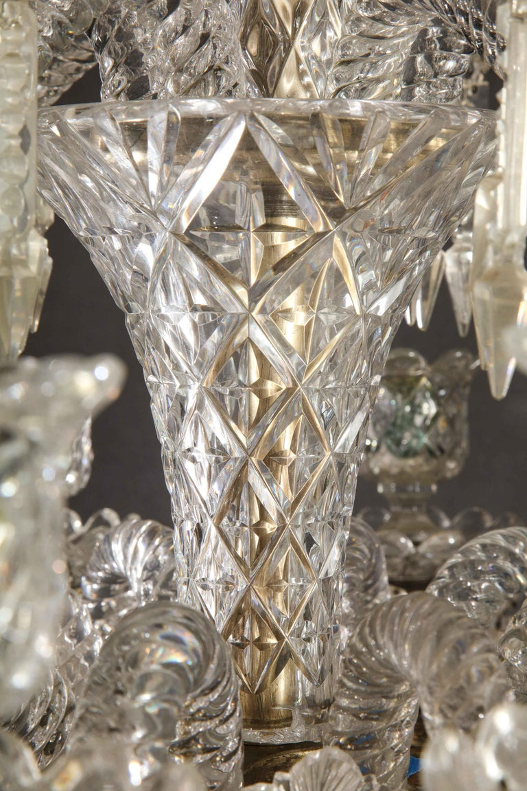 Cristalleries De Baccarat, a Large Pair of French Cut Crystal 18-Light Torcheres For Sale 10