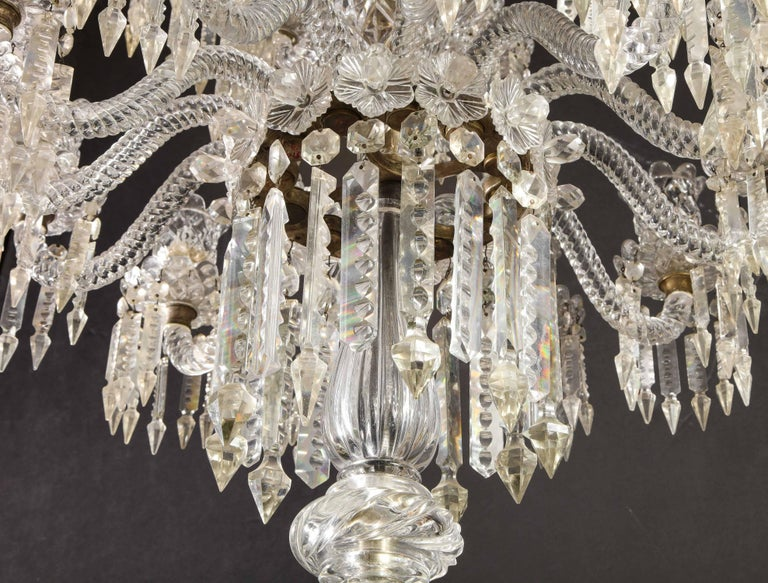Cristalleries De Baccarat, a Large Pair of French Cut Crystal 18-Light Torcheres For Sale 13