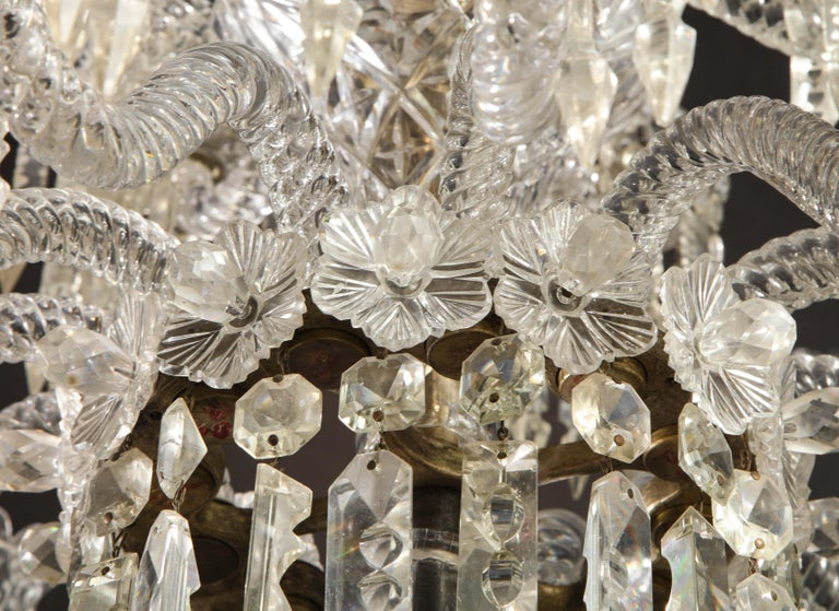 Cristalleries De Baccarat, a Large Pair of French Cut Crystal 18-Light Torcheres For Sale 14