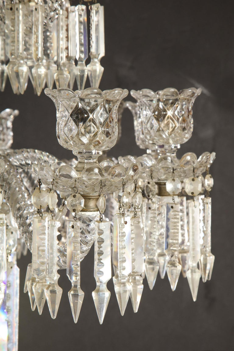 Cristalleries De Baccarat, a Large Pair of French Cut Crystal 18-Light Torcheres For Sale 1