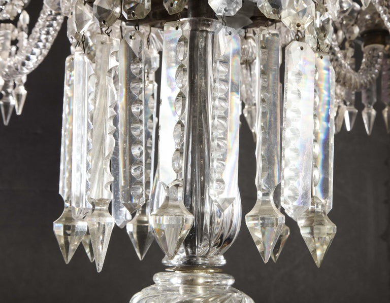 Cristalleries De Baccarat, a Large Pair of French Cut Crystal 18-Light Torcheres For Sale 3