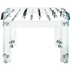 Cristallino Outdoor Edition Foosball Table with White Corian by Teckell