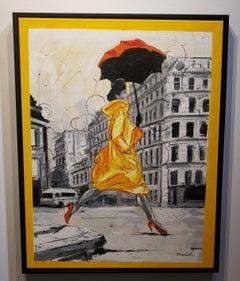 Coco in Paris VI. Impressionism,, Cuban artist. Paris, France, Oil on Canvas