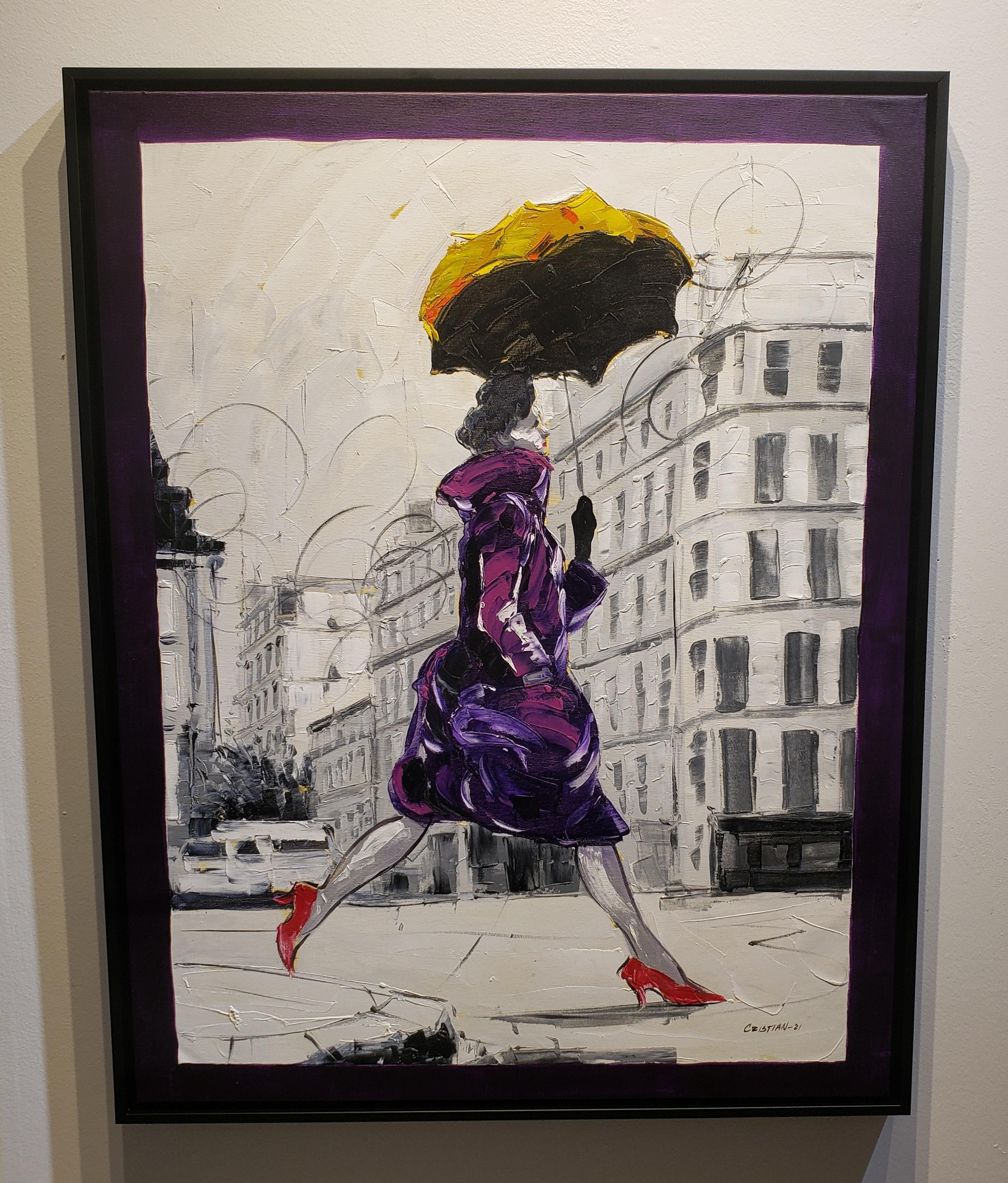 Coco in Paris VII. Impressionism,, Cuban artist. Paris, France, Oil on Canvas