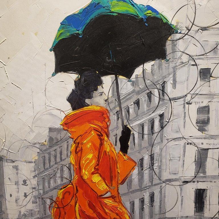Coco in Paris VIII. Impressionism,, Cuban artist. Paris, France, Oil on Canvas - Impressionist Painting by Cristian Mesa Velazquez
