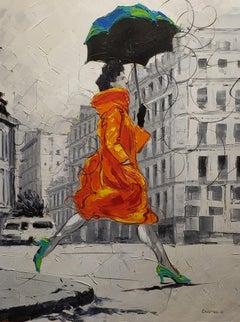 Coco in Paris VIII. Impressionism,, Cuban artist. Paris, France, Oil on Canvas
