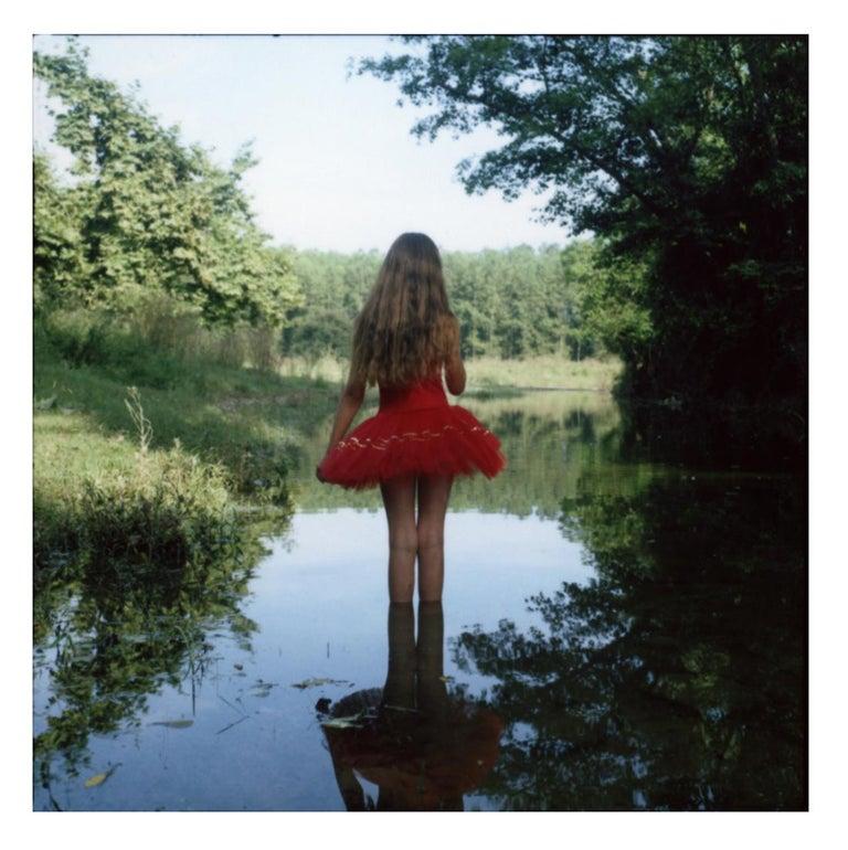 Cristina Fontsare Color Photograph - Gaby at ten - Contemporary, Polaroid, Photograph, Childhood. 21st Century