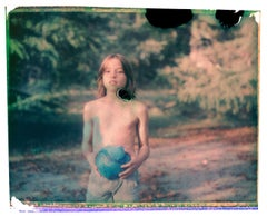 Gil at twelve - Contemporary, Polaroid, Photograph, Childhood, abstract