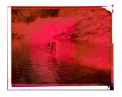 Pink red water (Once) - Contemporary, Polaroid, Photograph, abstract