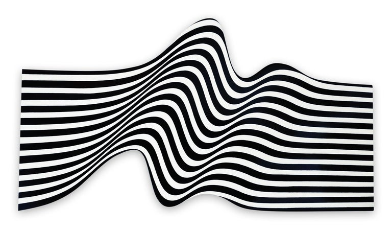Cristina Ghetti Abstract Painting - Double Wave Black