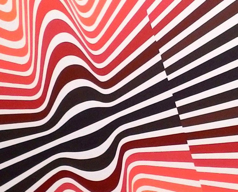 Folding Red - Abstract Painting by Cristina Ghetti