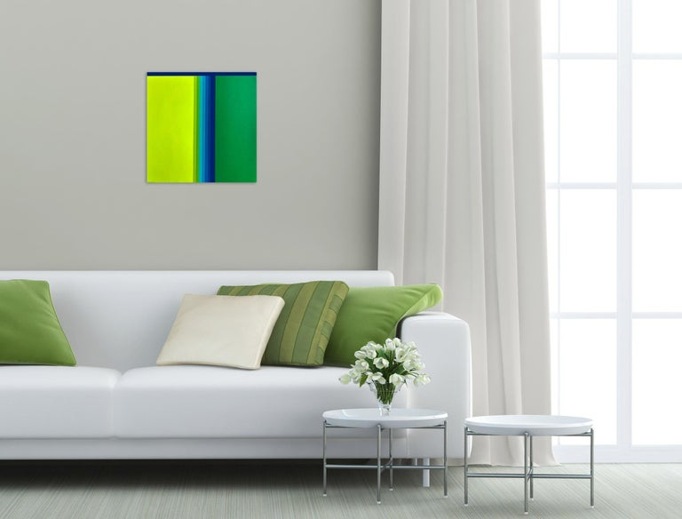 Green gradient (Abstract painting) - Painting by Cristina Ghetti