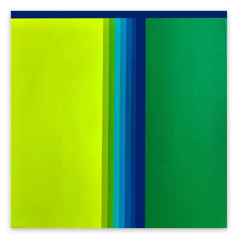 Cristina Ghetti Abstract Painting - Green gradient (Abstract painting)