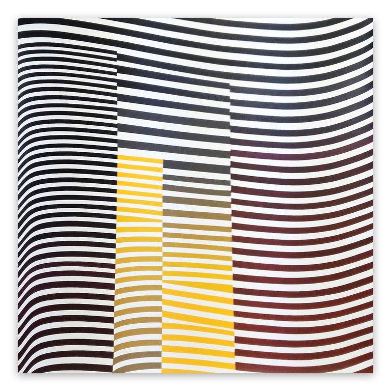 Cristina Ghetti Abstract Painting - Layers 04 Orange