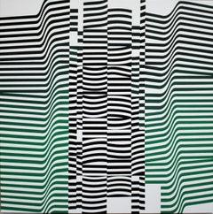 'Layers MC' Acrylic on Canvas Kinetic Painting