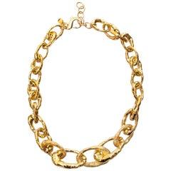 Cristina Sabatini Golden Necklace 18K Gold Infused Plating On Base Metal