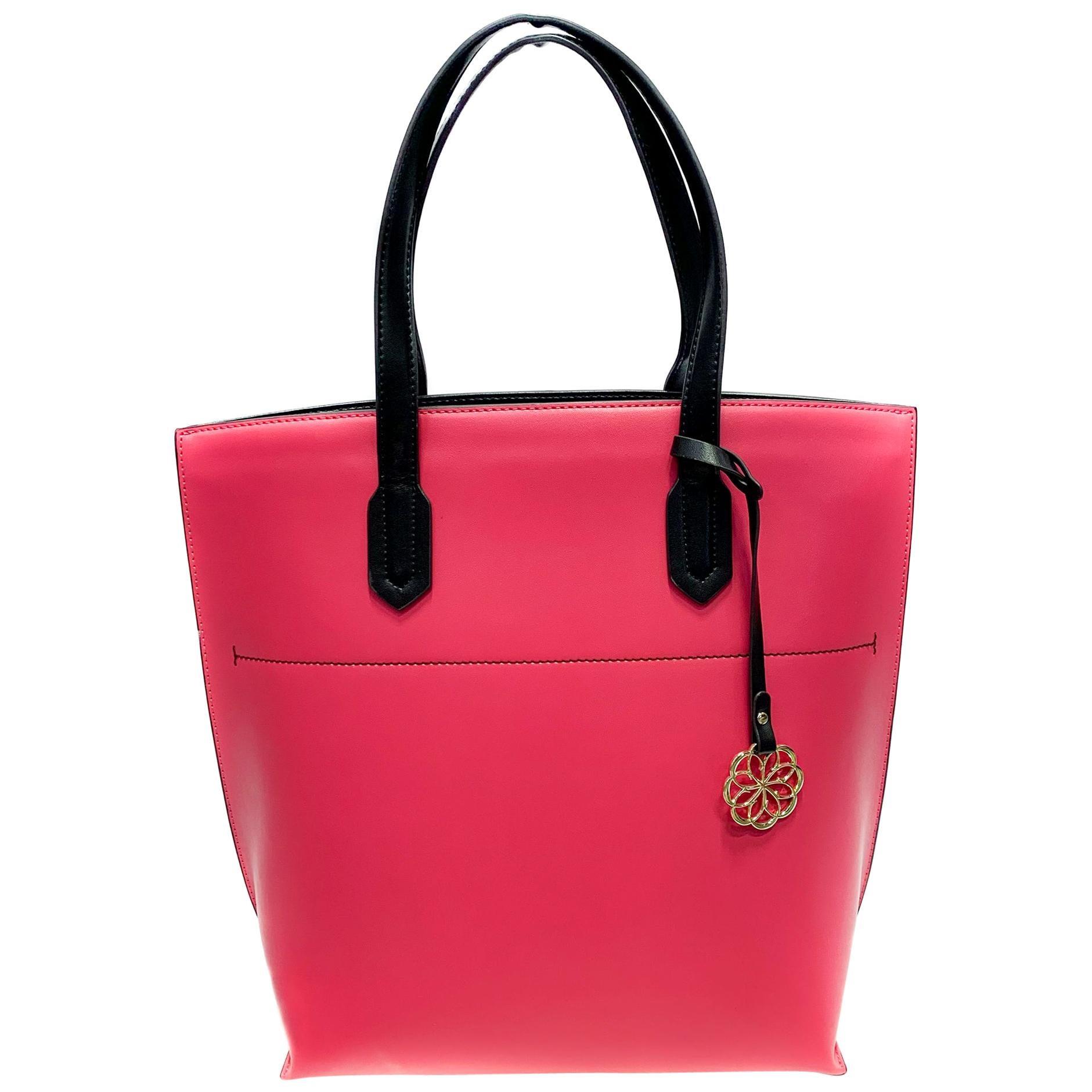 Cristina Sabatini Mallory Tote Handbag in Fusia
